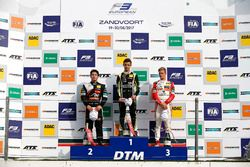 Rookie Podium: Winner Lando Norris, Carlin Dallara F317 - Volkswagen, second place Joey Mawson, Van Amersfoort Racing, Dallara F317 - Mercedes-Benz, third place Mick Schumacher, Prema Powerteam, Dallara F317 - Mercedes-Benz