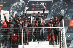 Podium: race winners Christian Engelhart, Mirko Bortolotti, GRT Grasser Racing Team, second place St