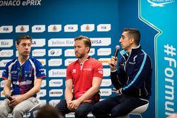 Basın toplantısı: Robin Frijns, Amlin Andretti Formula E Team, Nick Heidfeld, Mahindra Racing, Séba