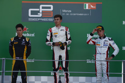 Podium: Jack Aitken, ART Grand Prix, George Russell, ART Grand Prix, Anthoine Hubert, ART Grand Prix