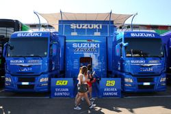 Team Suzuki MotoGP trucks