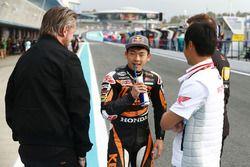 Johan Stigefelt, SIC Racing Team, Teammanager; Ayumu Sasaki, SIC Racing Team; Hiroshi Aoyama