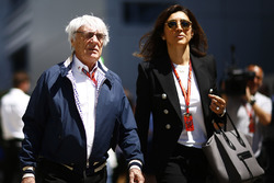 Bernie Ecclestone y su esposa Fabiana