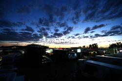 Paddock at dusk