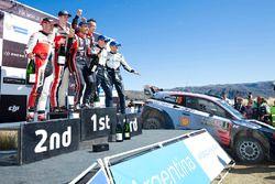 Winners Thierry Neuville, Nicolas Gilsoul, Hyundai Motorsport, second place Elfyn Evans, Daniel Barr