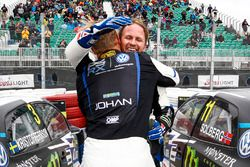 Winner Johan Kristoffersson, Volkswagen Team Sweden, second place Petter Solberg, PSRX Volkswagen Sweden VW Polo Gti