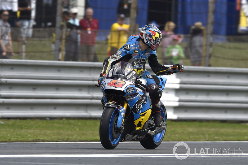 Jack Miller, Estrella Galicia 0,0 Marc VDS, exiting the pits on slicks