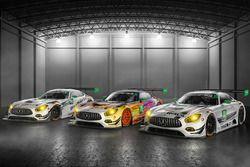 #50 Riley Motorsports Mercedes AMG GT3, #75 SunEnergy1 Racing Mercedes AMG GT3, #33 Riley Motorsports Mercedes AMG GT3