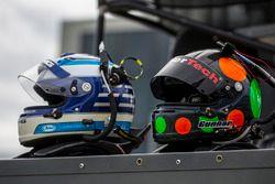 Helmets of Thomas Jäger and Gunnar Jeannette