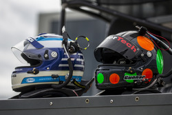 Helmets of Thomas Jäger and Gunnar Jeannette