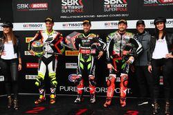 Superpole: pole Jonathan Rea, Kawasaki Racing, 2. Leandro Mercado, IodaRacing Team, 3. Tom Sykes, K