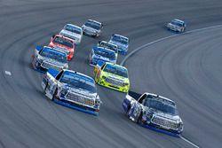 Ryan Truex, Hattori Racing Enterprises Toyota and Christopher Bell, Kyle Busch Motorsports Toyota
