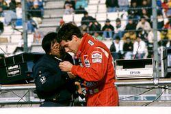 Ayrton Senna, McLaren, mit Osamu Goto