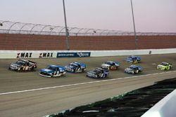 Noah Gragson, Kyle Busch Motorsports Toyota, Austin Cindric, Brad Keselowski Racing Ford, Christophe