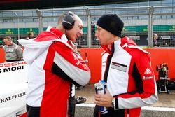 Amiel Lindesay, Crew Chief and Brendon Hartley, Porsche Team