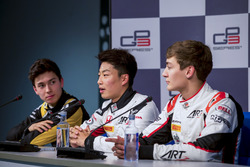 Press Conference: Jack Aitken, ART Grand Prix, Nirei Fukuzumi, ART Grand Prix, George Russell, ART G
