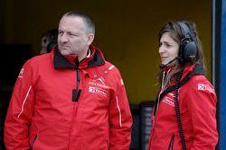 Claire Magnan, Team manager Citroen Racing et Yves Matton, Directeur de Citroen Racing