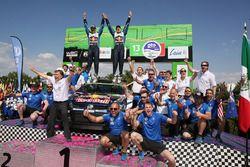Winnaars Jari-Matti Latvala, Miikka Anttila, Volkswagen Polo WRC, Volkswagen Motorsport