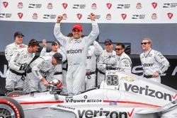 Le vainqueur Juan Pablo Montoya, Team Penske Chevrolet