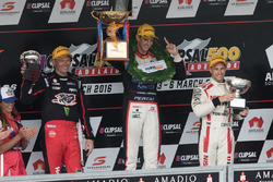 Podium: winner Nick Percat, Lucas Dumbrell Motorsport Holden, second place Michael Caruso, Nissan Motorsports, third place Garth Tander, Holden Racing Team