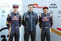Max Verstappen, Scuderia Toro Rosso with James Key, Scuderia Toro Rosso Technical Director and Carlos Sainz Jr., Scuderia Toro Rosso