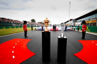 The trophies on the grid