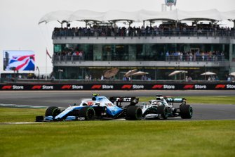 Robert Kubica, Williams FW42, leads Lewis Hamilton, Mercedes AMG F1 W10