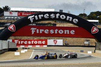 Александр Росси, Andretti Autosport Honda, и Джозеф Ньюгарден, Team Penske Chevrolet