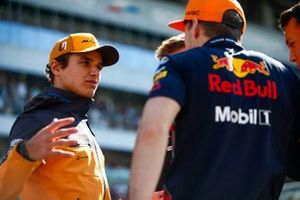 Lando Norris, McLaren, and Max Verstappen, Red Bull Racing