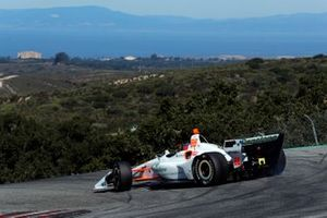 Colton Herta, Harding Steinbrenner Racing Honda spins in the Corkscrew