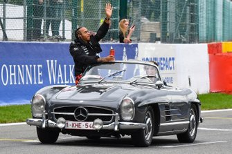 Lewis Hamilton, Mercedes AMG F1, on the drivers parade