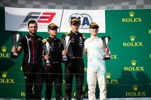 Christian Lundgaard, ART Grand Prix Max Fewtrell, ART Grand Prix and Jake Hughes, HWA RACELAB