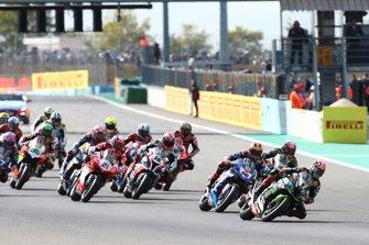 Jonathan Rea, Kawasaki Racing Team, Michael van der Mark, Pata Yamaha, Leon Haslam, Kawasaki Racing Team