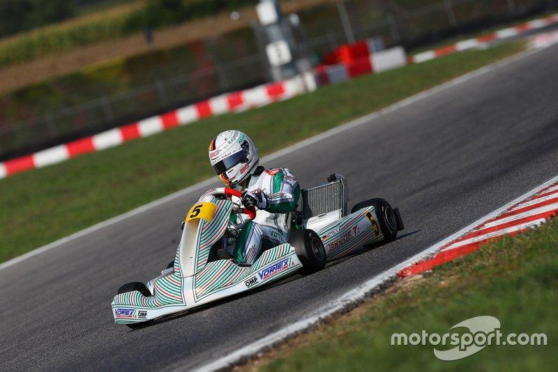 Sebastian Vettel a South Gard su un Tony kart