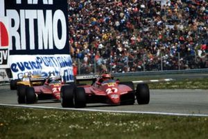 Gilles Villeneuve, Ferrari 126C2, leads Didier Pironi, Ferrari 126C2