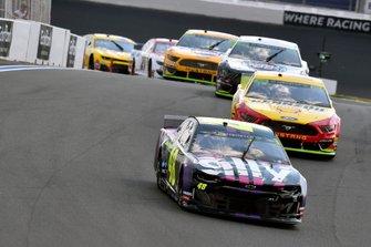 Jimmie Johnson, Hendrick Motorsports, Chevrolet Camaro Ally and Joey Logano, Team Penske, Ford Mustang Shell Pennzoil/Autotrader
