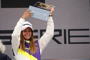 Podium: Race winner Marta Garcia