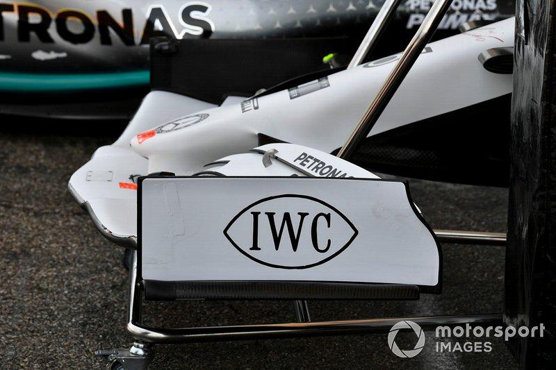 L'aileron avant de la Mercedes AMG F1 W10