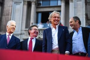 Piero Lardi Ferrari, Luca di Montezemolo y Gerhard Berger