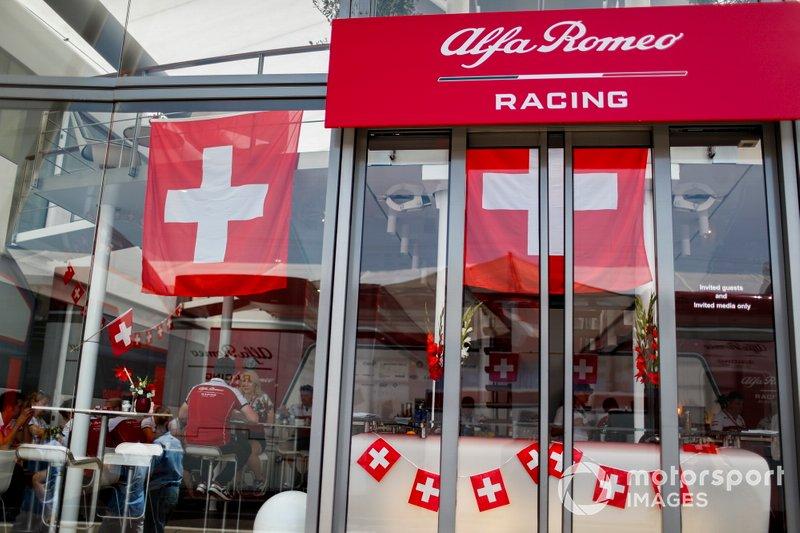 Le drapeau suisse chez Alfa Romeo Racing