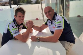 Tito Rabat and Raúl Romero, Avintia MotoGP team owner