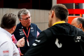 Zak Brown, Executive Director, McLaren, Otmar Szafnauer, Team Principal and CEO, Racing Point and Cyril Abiteboul, Managing Director, Renault F1 Team