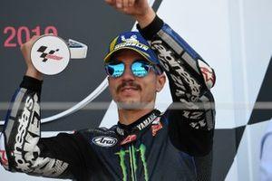 Podio: tercer puesto Maverick Viñales, Yamaha Factory Racing