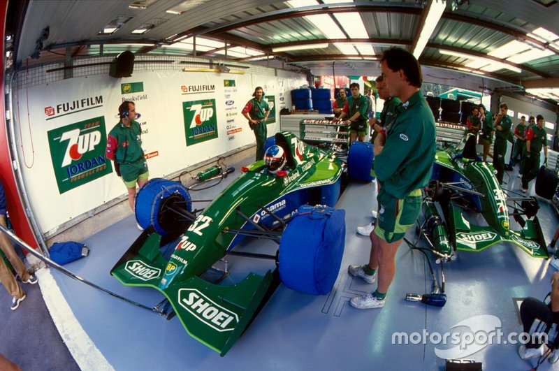 Michael Schumacher, Jordan ve Andy Stevenson