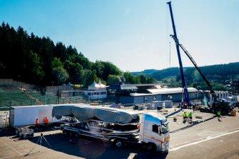 Preparazione nel paddock per il GP del Belgio
