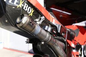 Ducati Team exhausts detail
