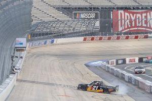 Zane Smith, GMS Racing, Chevrolet Silverado Cystic Fibrosis Foundation celebrates his victory
