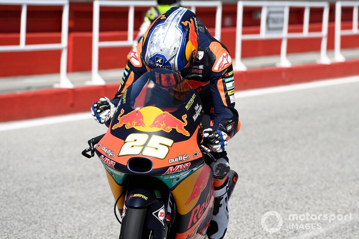 Ganador de la pole Raul Fernandez, Red Bull KTM Ajo