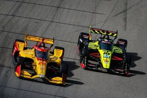 Ryan Hunter-Reay, Andretti Autosport Honda, Santino Ferrucci, Dale Coyne Racing with Vasser Sullivan Honda
