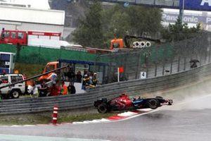 Vitantonio Liuzzi, Scuderia Toro Rosso STR2 spins out